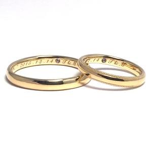 ゴールド手作り指輪