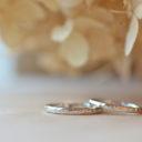 手作り結婚指輪槌目