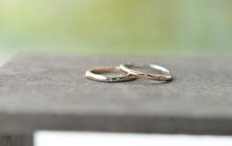 手作り結婚指輪 コンビネーション