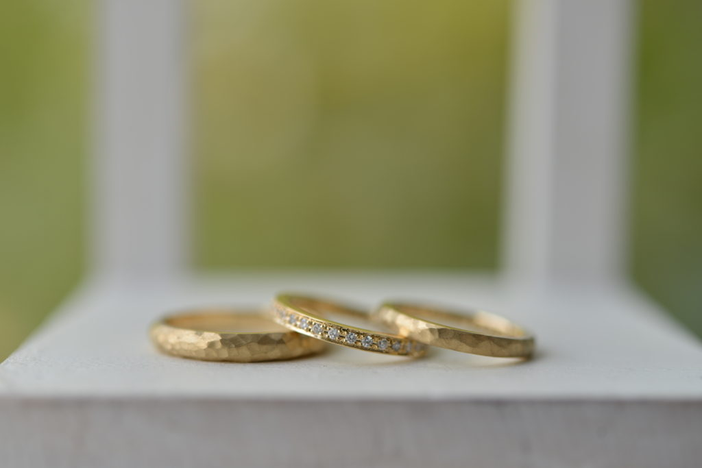 手作り結婚指輪、手作り婚約指輪